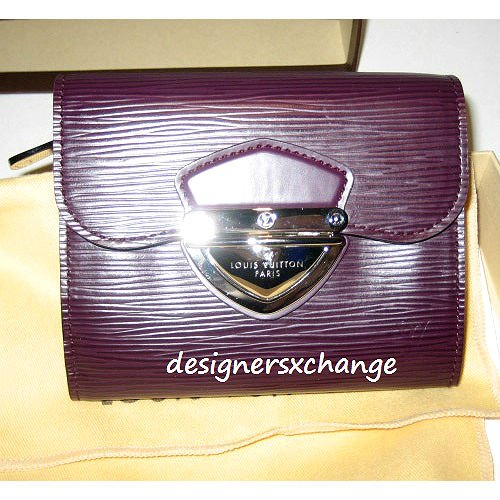 Louis Vuitton Cassis Epi Leather Joey Wallet with Silver hardware (Ltd color/discontinued color) Brand New